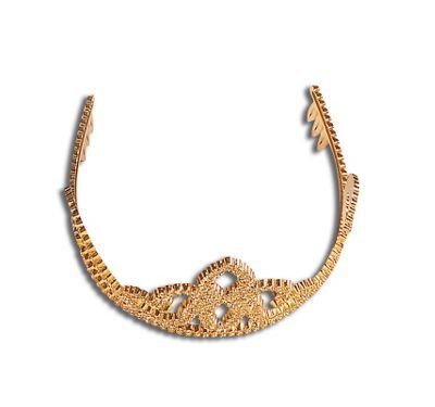 Bristol Novelty - Tiara - Gold Plastic