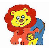 Traditional Wood 'n' Fun Animal Puzzles - Ackerman Toys Lion 12m+
