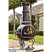 La Hacienda Large Steel Chiminea & Grill