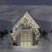 300 Warm White & Ice White LED Multi-Function Icicle Lights