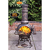Toledo cast iron chimenea large in bronze grapes