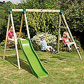 TP Forest Multiplay Wooden Swing Set & Slide