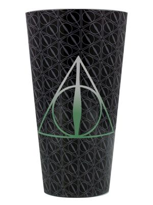Harry Potter The Deathly Hallows Cold Changing Drinking Glass 9 x 15cm, Black