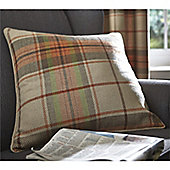 Catherine Lansfield Brushed Heritage Burnt Orange Check Cushion Cover - 55x55cm