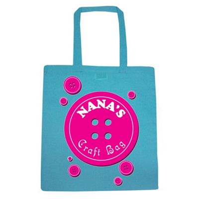 Nana's Craft Bag Tote Bag Azure Blue