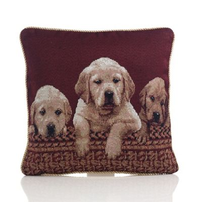 Alan Symonds Tapestry Labradors Cushion Cover - 45x45cm
