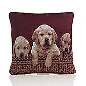 Alan Symonds Tapestry Labradors Cushion Cover - 45x45cm