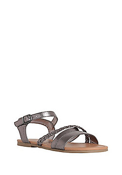 F&F Strappy Sandals - Pewter