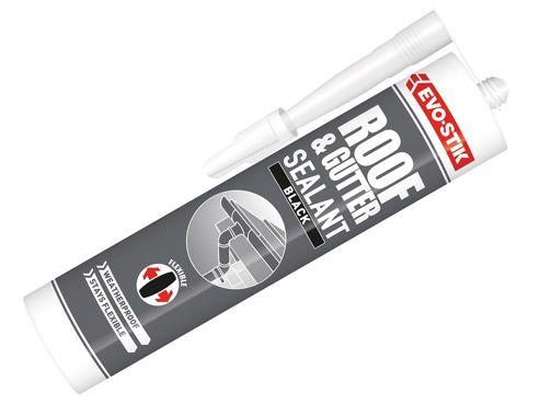 Evo-Stik Waterproof Roof & Gutter Sealant - Black 112919