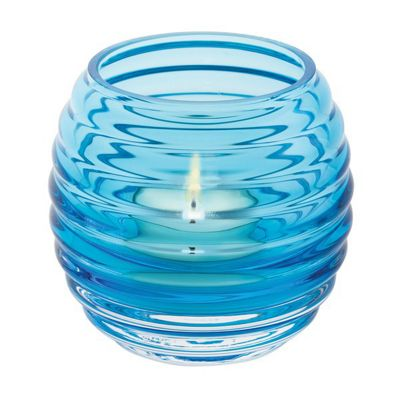 Dartington Crystal Beehive Turquoise Votive