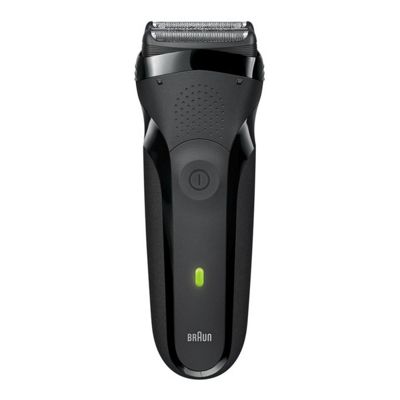 Braun 300 Rechargeable Electric Shaver with 30 Minutes Shaving Time in Black