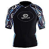 Optimum Razor Rugby Body Protection Black/Blue - XL