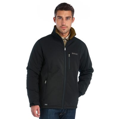 Regatta Mens Cato III Softshell Jacket Black M