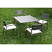 Outsunny 5PC Garden Metal Table Chairs Set