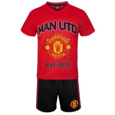 Manchester United FC Boys Short Pyjamas Red 2-3 Years