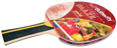 Michael Maze Gold Table Tennis Bat