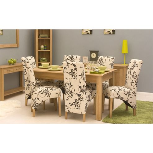 mobel oak 150cm dining table 4 6 seater table only