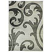 Hand Carved Elude Grey/Grey Rug 160X230cm