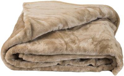 Faux Fur Tan Mink Throw Soft Warm Blanket 200 x 240cm