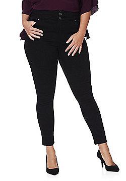 Simply Be Premium Shape & Sculpt High Rise Skinny Jeans - Black
