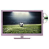 Sharp 24in LC-24DHF4011KR Rose Gold HD Ready LED TV with Freeview HD and DVD Player