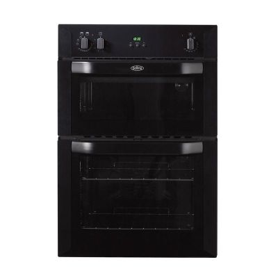 Belling BI90FP Double Electric Oven in Black