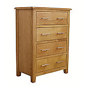 Nebraska Modern Oak 4 Drawer Chest of Drawers
