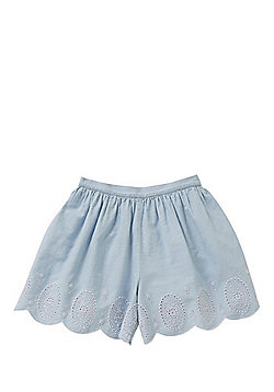 F&F Broderie Anglaise Hem Culottes - Blue