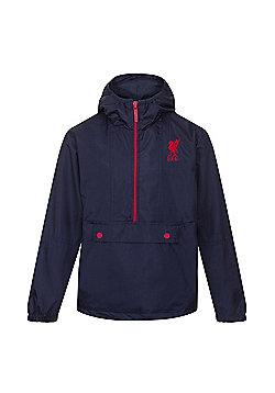 Liverpool FC Boys Shower Jacket - Navy