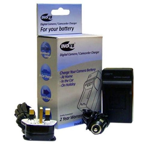 Inov8 Sanyo DB-L90 Travel Battery Charger (12V in-Car Adapter)