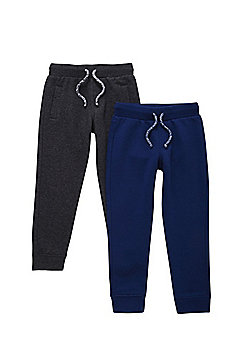 F&F 2 Pack of Drawstring Joggers - Multi