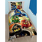 Lego Ninjago Quadrant Single Duvet Cover and Pillowcase Set