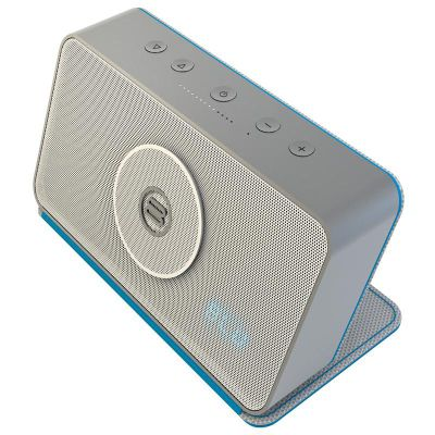 Bayan Audio Soundbook Portable Bluetooth Speaker (Silver/Turquoise)