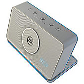 Bayan Audio Soundbook Portable Bluetooth Speaker (Silver/Turquoise)