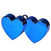 Blue Double Heart Balloon Weight