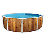 White Coral Wood Effect Steel Pool 4.6m x 1.2m
