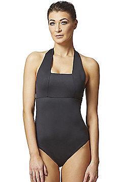 Control Elite Halter Swimsuit Black - Black