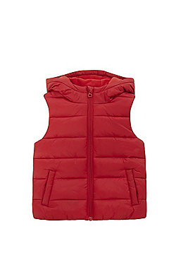 F&F Hooded Padded Gilet - Red