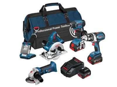 Bosch BAG+6RS 6 Piece Cordless Tool Kit 18 Volt 3 x 4.0Ah Li-Ion
