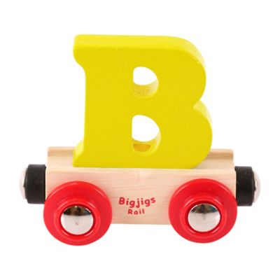 Bigjigs Rail Rail Name Letter B (Yellow)