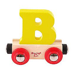 Bigjigs Rail Rail Name Letter B (Yellow)