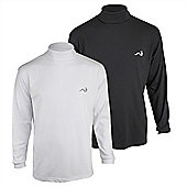 Woodworm Roll Neck Golf Shirt 2 Pack L