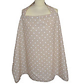 Breastfeeding Cape (Dotty Cream)
