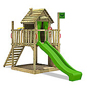 Fatmoose DonkeyDome Double XXL Climbing Frame With Apple Green Slide
