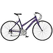 "Claud Butler Urban 500 Purple Urban Bike 20"" Carbon Forks"