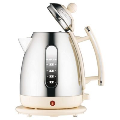Dualit Cordless Jug Kettle, 1.5L - Stainless Steel and Cream