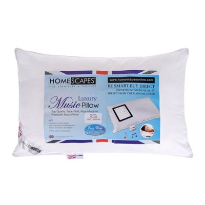 Homescapes Super Microfibre Washable Music Pillow With Speakers-Soft/Medium