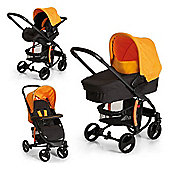 Hauck Miami 4S Trio Travel System - Caviar/Orange
