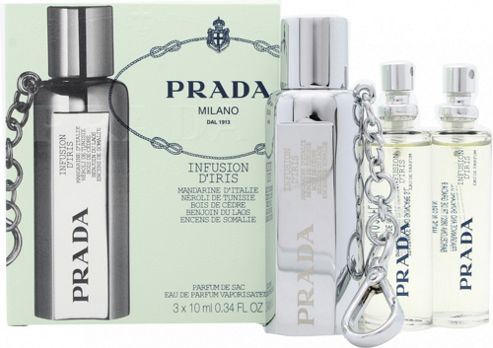 Prada Infusion D'Iris Gift Set 10ml EDP Refillable + 2 x 10ml Refills For Women