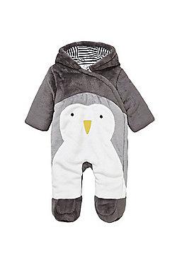 F&F Penguin Pramsuit - Grey